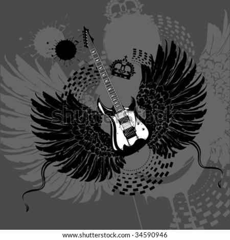 Flying Guitar #34590946