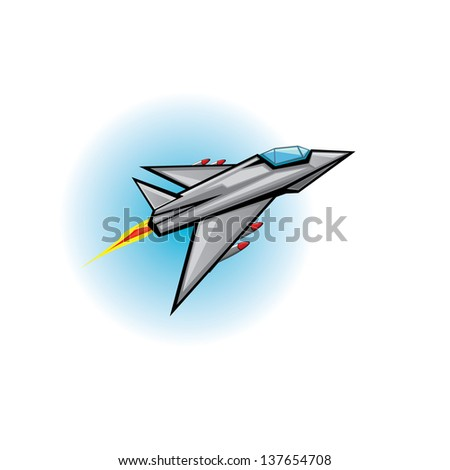 flying jet fighter with missile