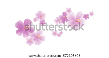 flying light purple flowers