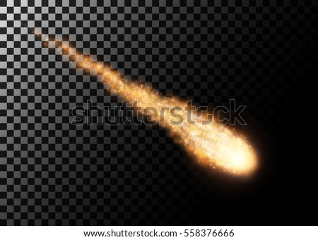 flying meteor  cosmic object