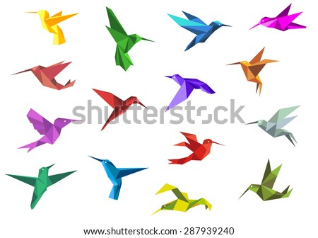 flying origami paper