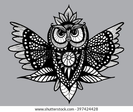 flying owl owl with