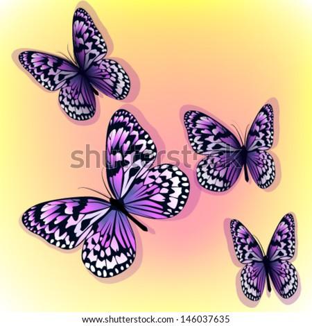 flying purple butterfly