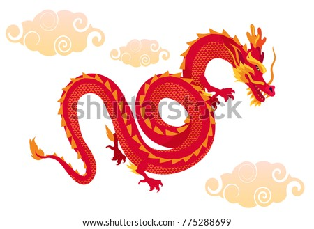 flying red dragon