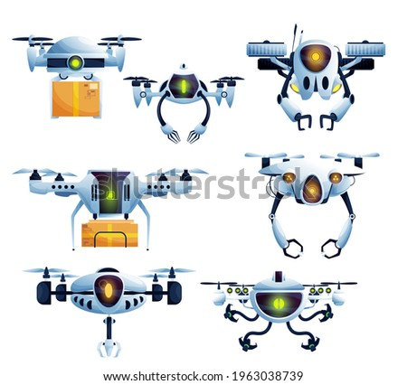 flying robot  droid drone and