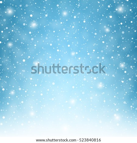 flying snowflakes on a light