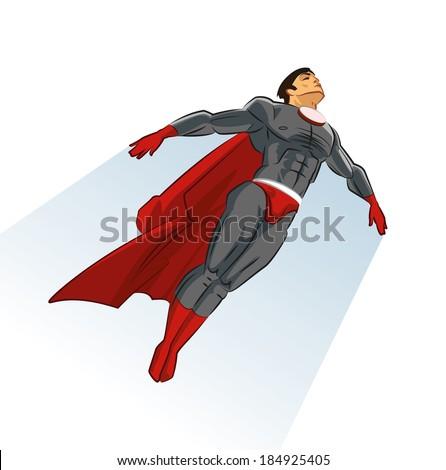 Flying superhero. Vector #184925405