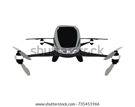 flying taxi drone for two