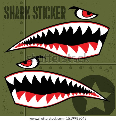 flying tiger shark sticker