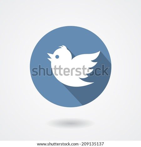 flying twitter bird icon