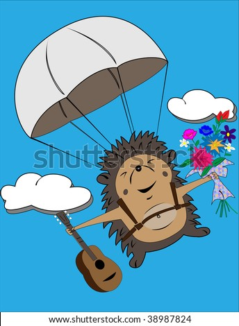 A que ciudad o pais te ha transportado tu lectura actual? - Página 2 Stock-vector-flying-vector-hedgehog-with-flowers-and-guitar-38987824