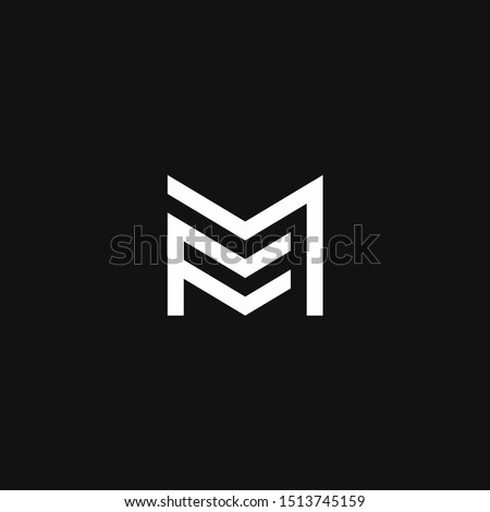 FM Logo monogram modern design template  Stock fotó ©