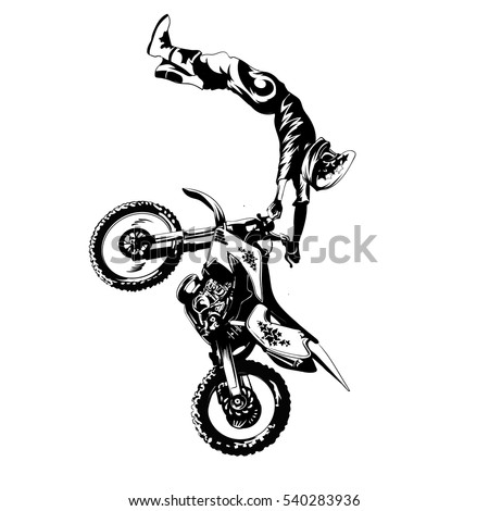 fmx  trick rider  on a white