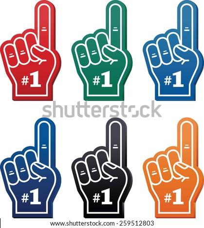 Foam finger / We're #1 icon