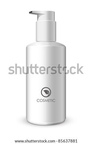 Foam Pump Bottle White: Vector Version