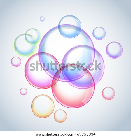 foam   vector soap bubbles
