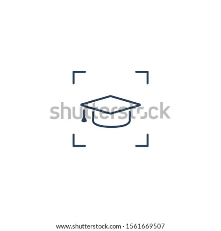 Focus and study sign. Focus on education. Simple vector linear icon on a white background.