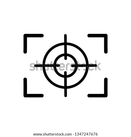 Focus black icon vector on a white background