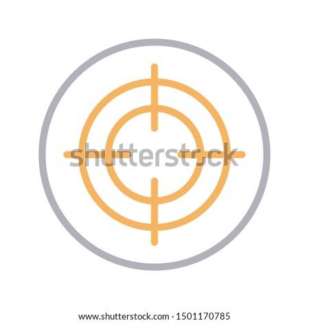 focus colour line vector icon