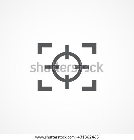 focus icon eps10 vector eps jpg picture flat app web art