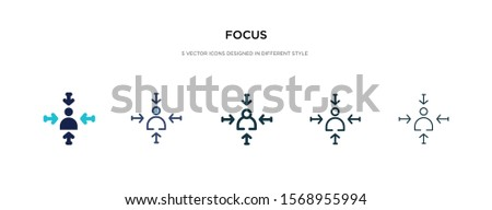 focus icon in different style vector illustration. two colored and black focus vector icons designed in filled, outline, line and stroke style can be used for web, mobile, ui