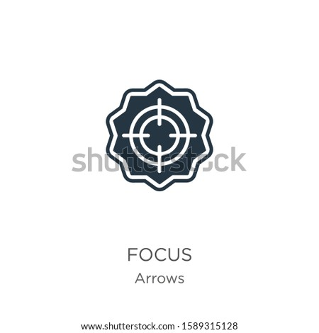 Focus icon vector. Trendy flat focus icon from arrows collection isolated on white background. Vector illustration can be used for web and mobile graphic design, logo, eps10