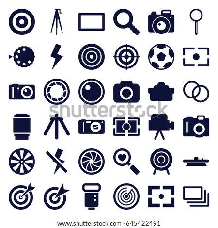 focus icons set set of 36