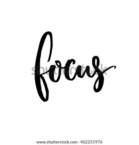 focus minimalistic design