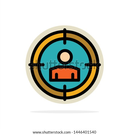 Focus, Target, Audience Targeting,  Abstract Circle Background Flat color Icon