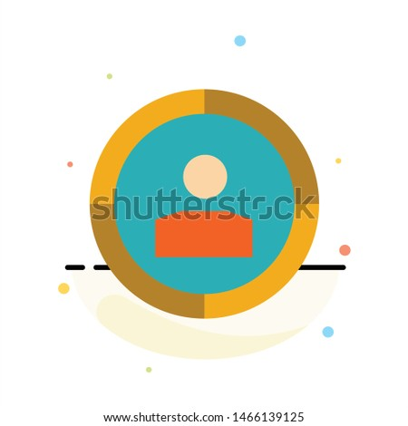 Focus, Target, Audience Targeting,  Abstract Flat Color Icon Template. Vector Icon Template background