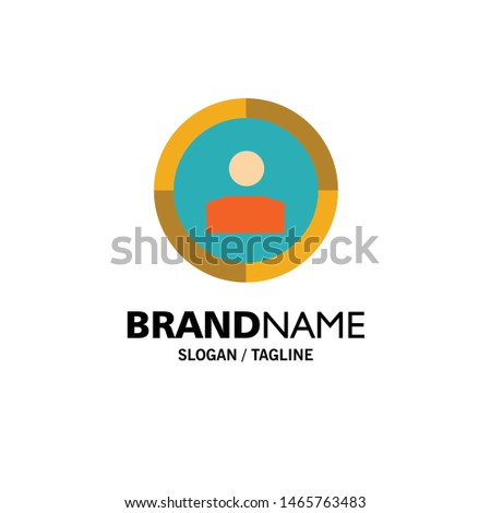 Focus, Target, Audience Targeting,  Business Logo Template. Flat Color. Vector Icon Template background
