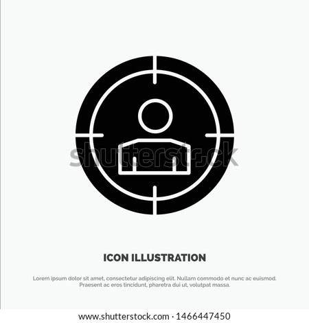 Focus, Target, Audience Targeting,  solid Glyph Icon vector. Vector Icon Template background