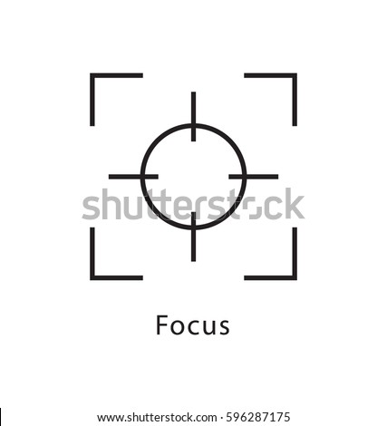 focus vector line icon