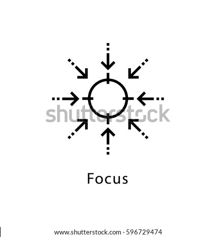 focus vector line icon