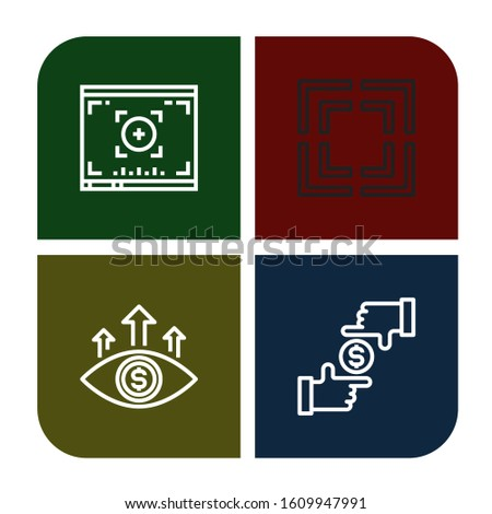 focusing icon set. Collection of Viewfinder, Focus icons
