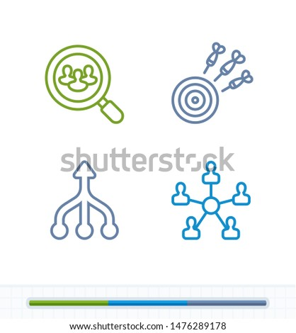Focussed Efforts - Contrast Stroke Icons. A set of 4 professional, pixel-aligned icons.