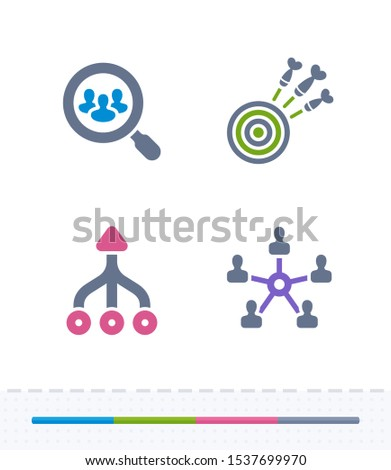 Focussed Efforts - Vibrant Imprint Icons. A set of 4 professional, pixel-aligned icons.