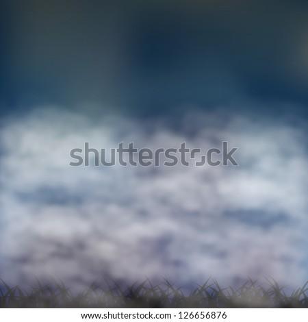 Fog background. Vector illustration - stock vector