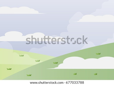 fog hill vector