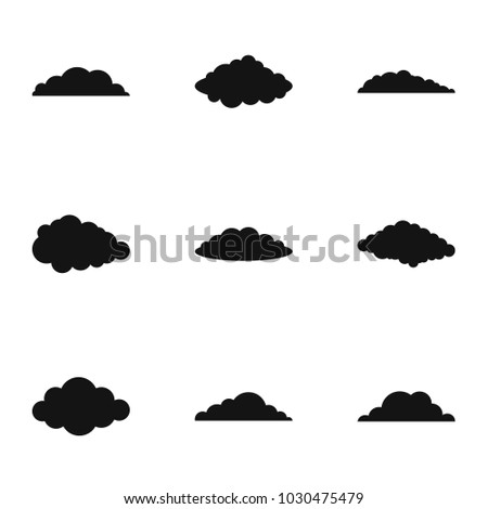Fog icons set. Simple set of 9 fog vector icons for web isolated on white background