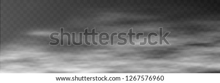 Fog on transparent background, panoramic image, vector background, EPS10 Сток-фото ©