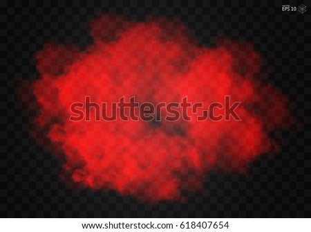 Fog or smoke color isolated transparent special effect. White vector cloudiness, mist smog background. illustration