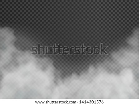 Fog or smoke isolated on transparent background. Vector illustration. Eps 10.