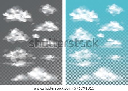 fog   smoke and cloud isolated