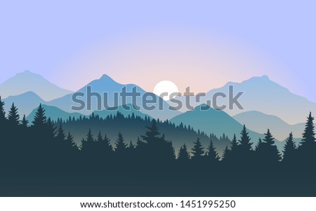 foggy mountain landscape during