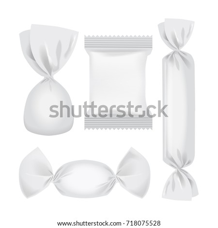 Foil food pack mock up for snack, candies and other products for your design