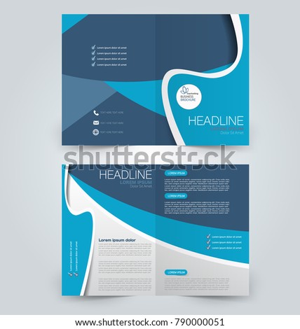Fold brochure template. Flyer background design. Magazine cover ...