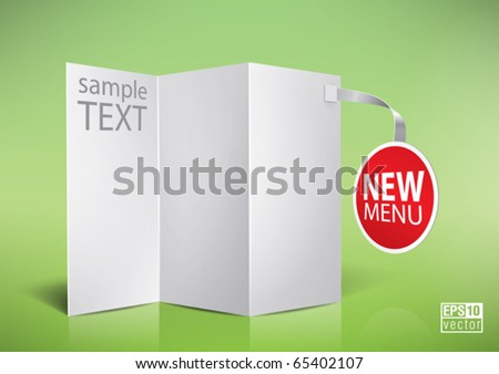 folded  blank menu for your design, eps10 vector - stock vector