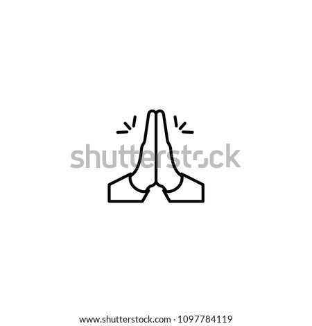 folded hands vector icon