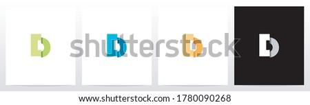 Folded Letter Logo Design D Zdjęcia stock ©